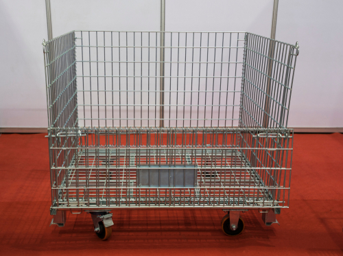 wire basket with wheels