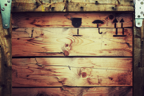 Texture of wooden shipping crate