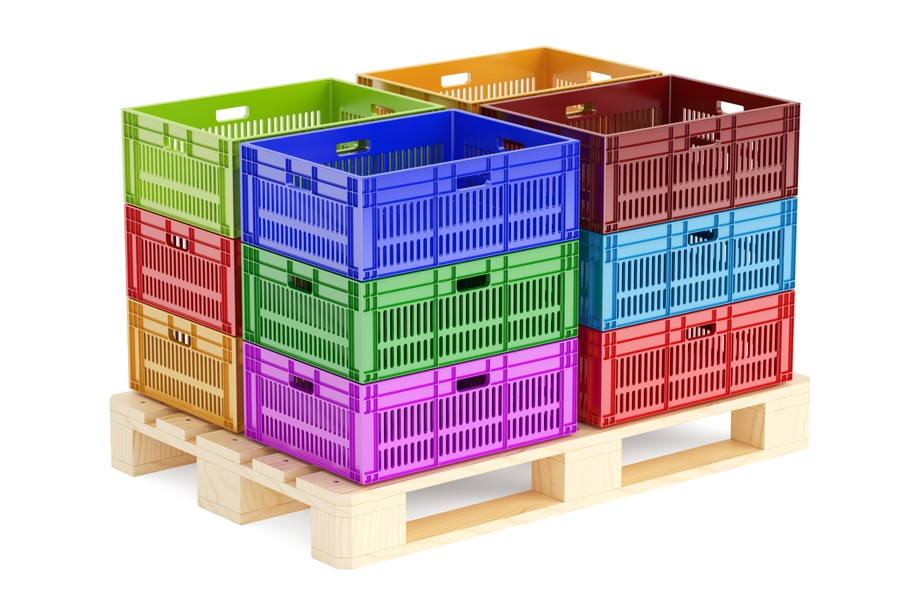 Pallet of bulk containers