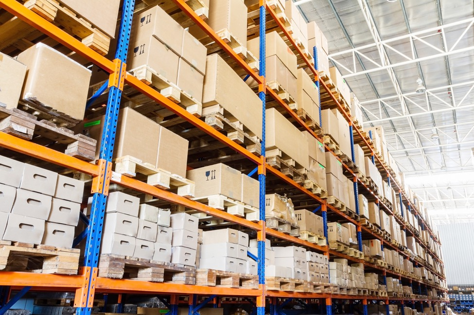 full racks in warehouse