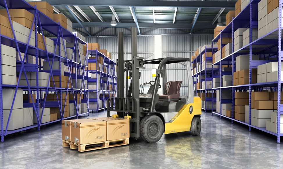 moving containers in warehouse