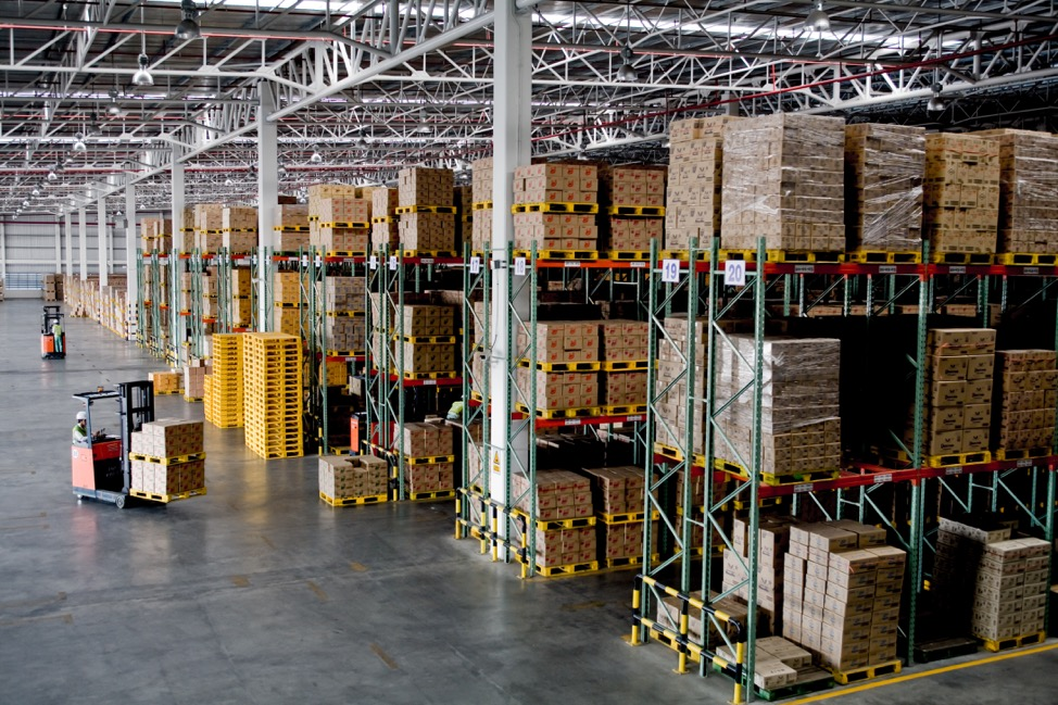 warehouse of Metal Pallets