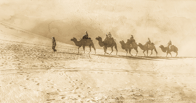 caravan on silk road