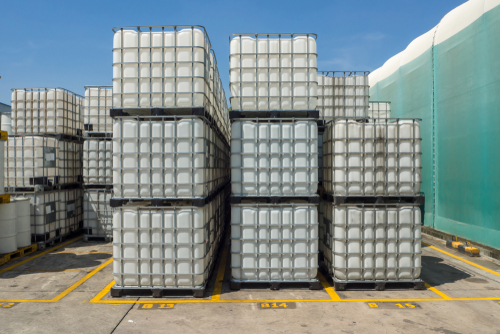used white ibc containers