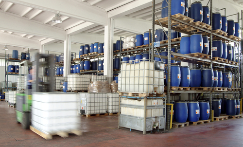 chemical storage in warehouse