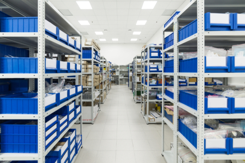 Warehouse of components for the electronics industry