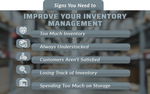 signs inventory management needs improvement graphic