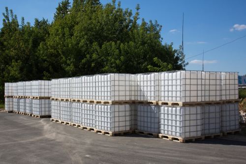 warehouse intermediate bulk containers