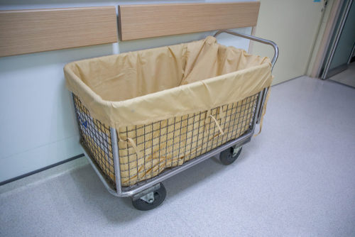 wire basket for hospital laundry