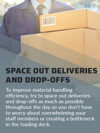 space out deliveries drop offs quote