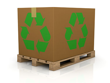 recyclable cardboard shipping box