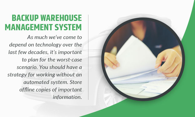 Backup Warehouse Management System graphic
