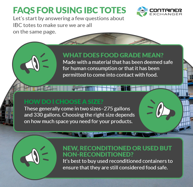 FAQs for Using IBC Totes