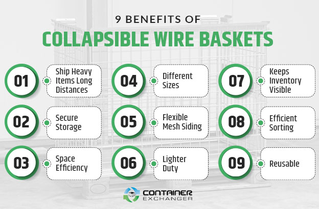 benefits collapsible wire baskets graphic