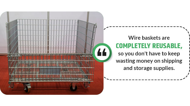 wire baskets are reusable quote
