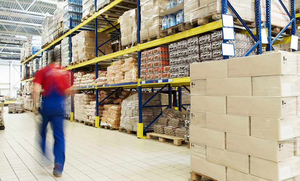 food pallets in warehouse