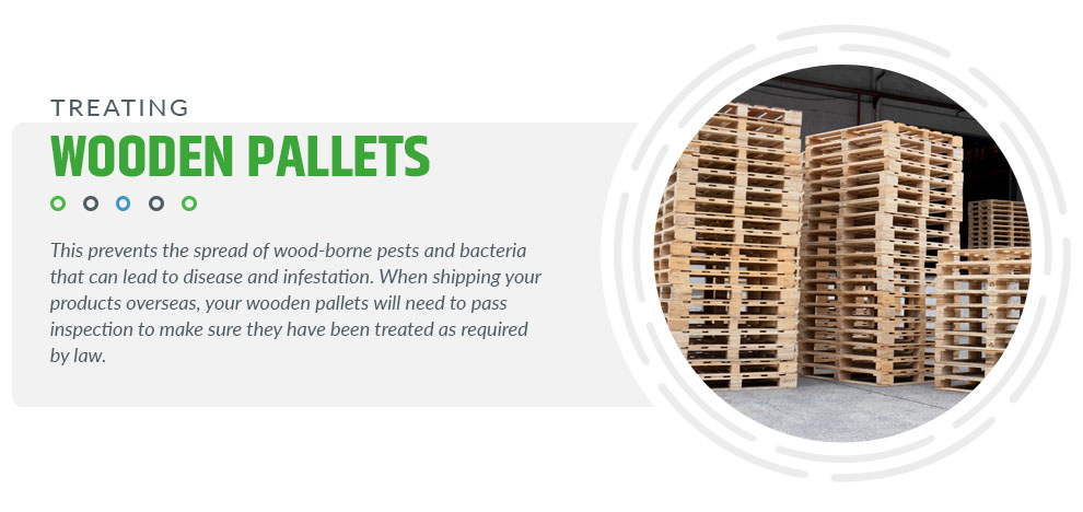 treating wooden pallets
