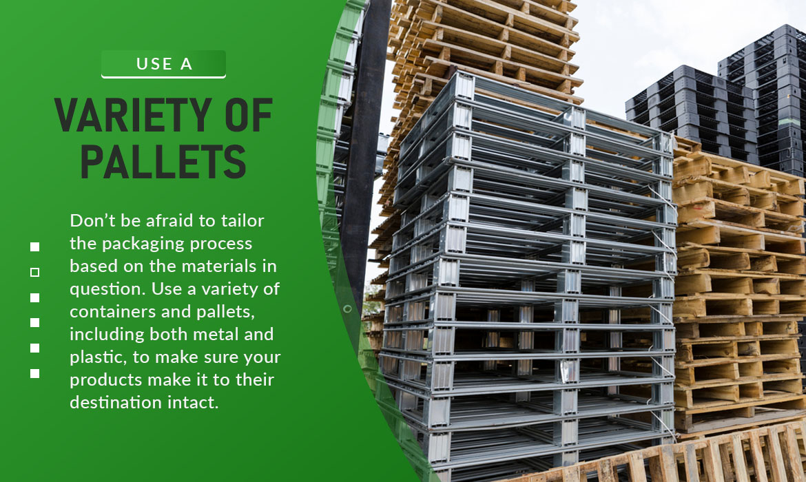 variety of pallets