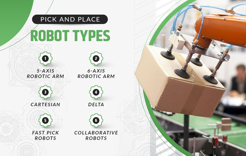 pick and place robot types