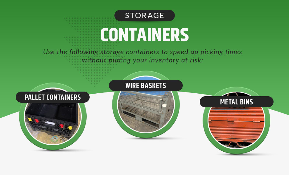 storage containers speed picking times