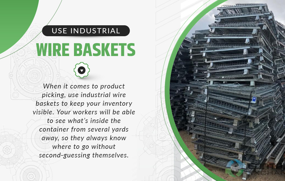 use industrial wire baskets